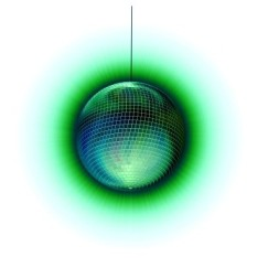 disco-ball green