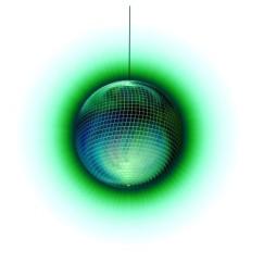 disco-ball green