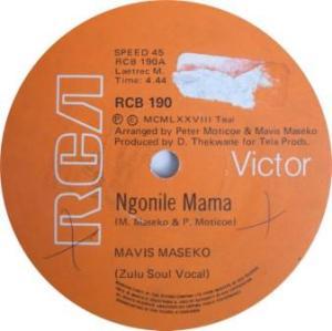 Mavis Maseko -ngonilie mama