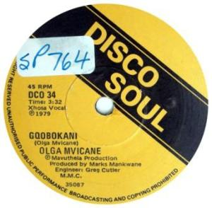 Olga Mvicane -Gqobokani label