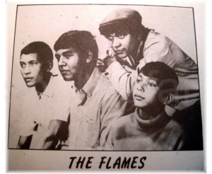 the flames promo pic from compilation 'It's Happening 1967' . Fontana Records SA