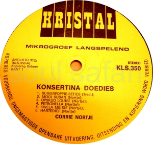 Corrie Nortje -Concertina Doedies label 1