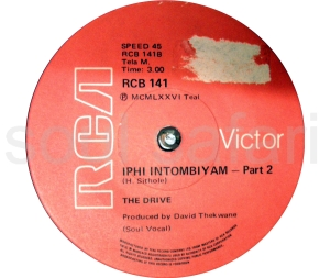The Drive -Iphi Intombiyam Pt 2 label