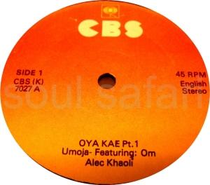 Umoya -Oya Kae Pt 1 label