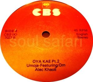 Umoya -Oya Kae Pt 2 label