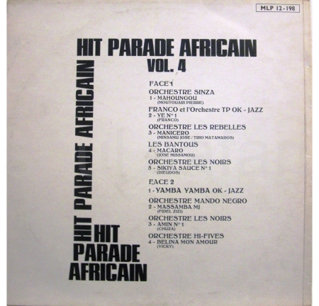 hit parade africain cover achter