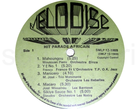 hit parade africain label side 1