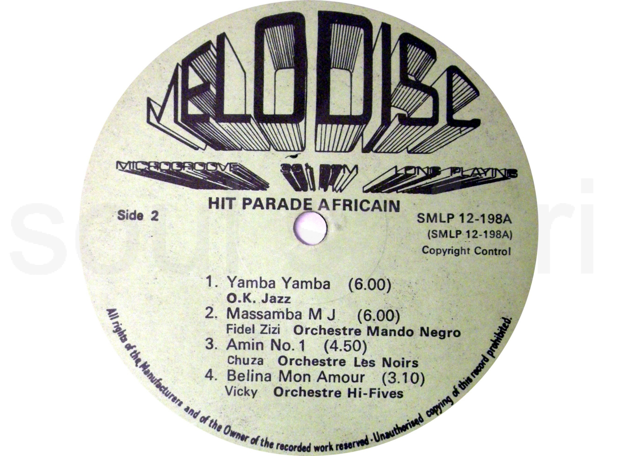 hit parade africain label side 2