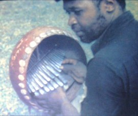 ephat mujuru plays the mbira