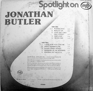 jonathan butler back cover