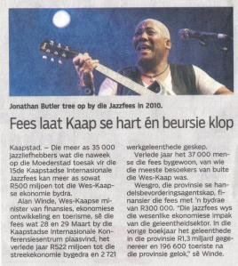 jonathan butler -die burger March 25th 2014
