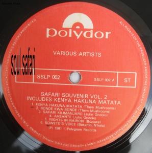 safari souvenir vol 2 label A