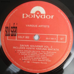 safari souvenir vol 2 label A