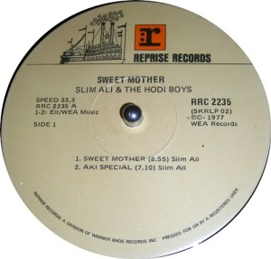 Slim Ali And The Hodi Boys -Sweet Mother label A. gecomp
