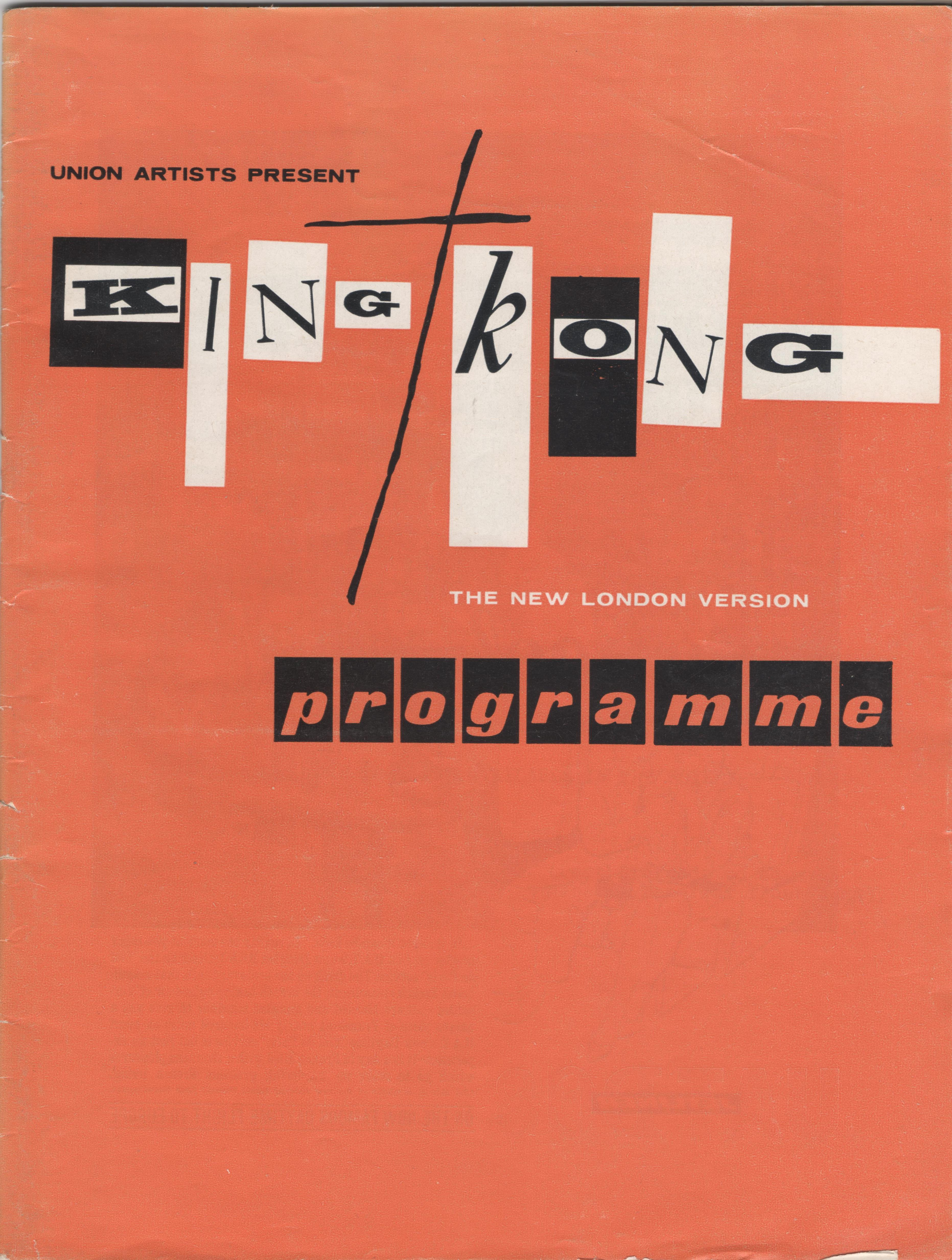 king kong london programme cover