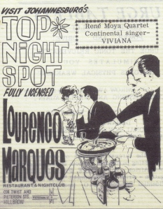 Lourenco Marques restaurant & nightclub flyer July 27 1967