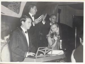Viviana + Dan Hill & His band at the Orange Grove Hotel Johannesburg Sept 1966