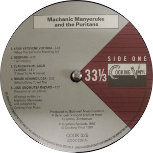 Machanic Manyeruke label A