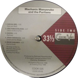 Machanic Manyeruke label B