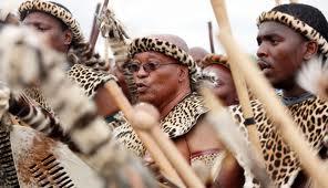 zuma as zulu warrior