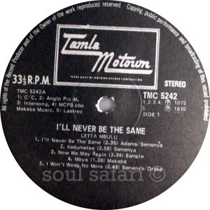 Letta Mbulu -I'll Never Be The Same label 1 watermarked