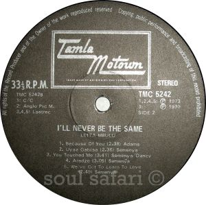 Letta Mbulu -I'll Never Be The Same label 2 watermarked