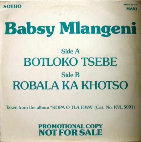 babsy mlangeni robala ka khotso cover front watermarked