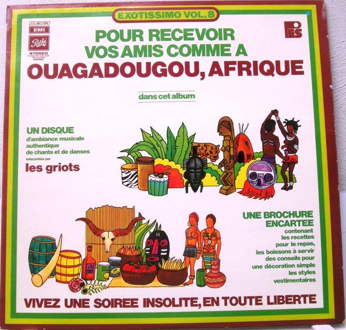 serge franklin -ouagadougou, afriqua LP cover