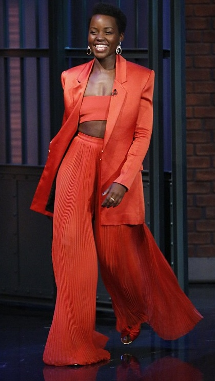 Lupita Nyong'o in Balmain