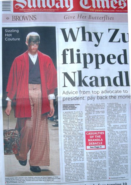 sizzling hot couture voorpagina sunday times 7 feb 16