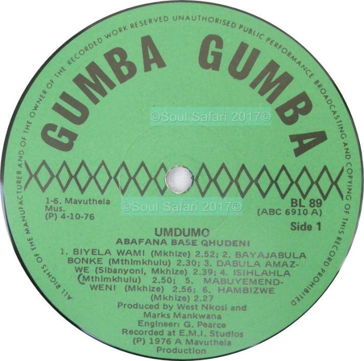 abafana baseqhudeni -umdumo label watermarked