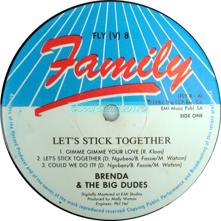 brenda & the big dudes -let's stick together label A watermarked