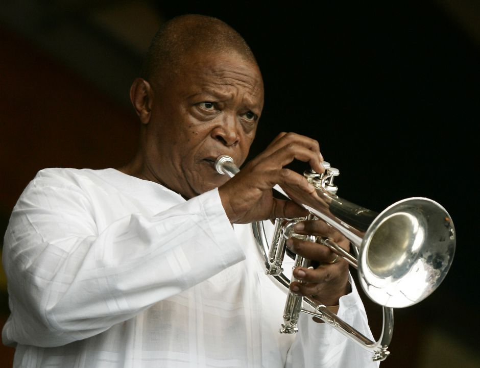 Hugh Masekela, South African trumpeter, has died after battle with prostate cancer -photo Bra Hugh (AP Photo-Jeff Christensen)