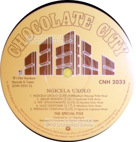 the special 5 ngicela uxolo label A gecomp watermarked