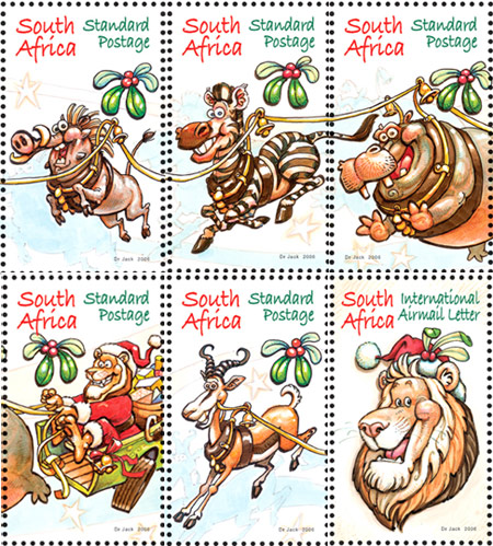 SA X-mas postzegels